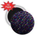 Polka Dot Sparkley Jewels 2 2.25  Button Magnet (10 pack)