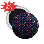 Polka Dot Sparkley Jewels 2 2.25  Button Magnet (100 pack)