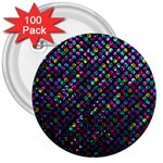 Polka Dot Sparkley Jewels 2 3  Button (100 pack)