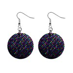 Polka Dot Sparkley Jewels 2 Mini Button Earrings