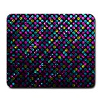 Polka Dot Sparkley Jewels 2 Large Mouse Pad (Rectangle)