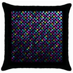 Polka Dot Sparkley Jewels 2 Black Throw Pillow Case