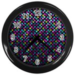 Polka Dot Sparkley Jewels 2 Wall Clock (Black)
