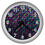 Polka Dot Sparkley Jewels 2 Wall Clock (Silver)