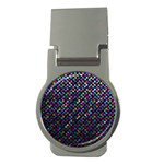 Polka Dot Sparkley Jewels 2 Money Clip (Round)