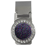 Polka Dot Sparkley Jewels 2 Money Clip (CZ)