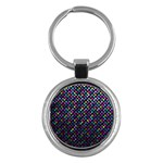 Polka Dot Sparkley Jewels 2 Key Chain (Round)
