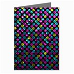 Polka Dot Sparkley Jewels 2 Greeting Card