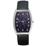 Polka Dot Sparkley Jewels 2 Tonneau Leather Watch