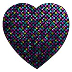 Polka Dot Sparkley Jewels 2 Jigsaw Puzzle (Heart)