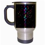 Polka Dot Sparkley Jewels 2 Travel Mug (Silver Gray)