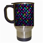 Polka Dot Sparkley Jewels 2 Travel Mug (White)