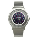 Polka Dot Sparkley Jewels 2 Stainless Steel Watch (Slim)