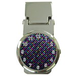 Polka Dot Sparkley Jewels 2 Money Clip with Watch