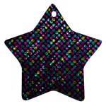 Polka Dot Sparkley Jewels 2 Star Ornament (Two Sides)