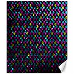 Polka Dot Sparkley Jewels 2 Canvas 8  x 10  (Unframed)