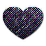 Polka Dot Sparkley Jewels 2 Mouse Pad (Heart)