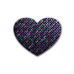 Polka Dot Sparkley Jewels 2 Drink Coasters (Heart)