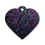 Polka Dot Sparkley Jewels 2 Dog Tag Heart (One Sided)