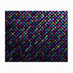 Polka Dot Sparkley Jewels 2 Glasses Cloth (Small, Two Sided)