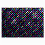 Polka Dot Sparkley Jewels 2 Glasses Cloth (Large, Two Sided)