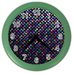 Polka Dot Sparkley Jewels 2 Wall Clock (Color)