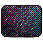 Polka Dot Sparkley Jewels 2 Netbook Sleeve (Large)