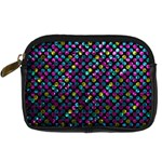 Polka Dot Sparkley Jewels 2 Digital Camera Leather Case