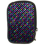 Polka Dot Sparkley Jewels 2 Compact Camera Leather Case