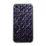 Polka Dot Sparkley Jewels 2 Apple iPhone 4 Case (Clear)