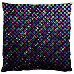 Polka Dot Sparkley Jewels 2 Large Cushion Case (Single Sided)