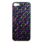 Polka Dot Sparkley Jewels 2 Apple iPhone 5 Case (Silver)