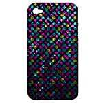 Polka Dot Sparkley Jewels 2 Apple iPhone 4/4S Hardshell Case (PC+Silicone)