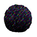 Polka Dot Sparkley Jewels 2 15  Premium Round Cushion
