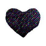 Polka Dot Sparkley Jewels 2 16  Premium Heart Shape Cushion