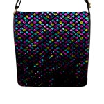 Polka Dot Sparkley Jewels 2 Flap Closure Messenger Bag (Large)
