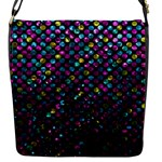 Polka Dot Sparkley Jewels 2 Flap Closure Messenger Bag (Small)