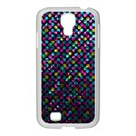 Polka Dot Sparkley Jewels 2 Samsung GALAXY S4 I9500/ I9505 Case (White)