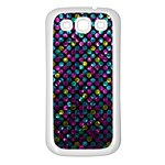 Polka Dot Sparkley Jewels 2 Samsung Galaxy S3 Back Case (White)