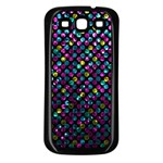 Polka Dot Sparkley Jewels 2 Samsung Galaxy S3 Back Case (Black)
