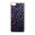 Polka Dot Sparkley Jewels 2 Apple iPhone 5C Seamless Case (White)