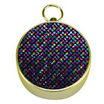Polka Dot Sparkley Jewels 2 Gold Compass