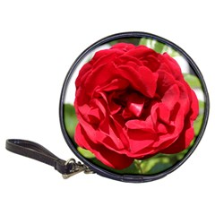 Dark Red Rose Bardou Job Cd Wallet by stineshop