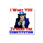 Read The Constitution Magnet (Square)
