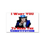Read The Constitution Sticker Rectangular (10 pack)