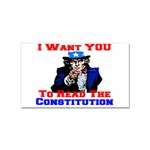 Read The Constitution Sticker Rectangular (100 pack)
