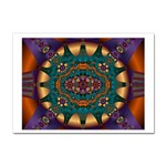 Psychodelic Purple and Gold Fractal Sticker (A4)