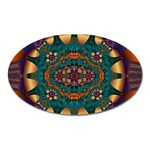 Psychodelic Purple and Gold Fractal Magnet (Oval)