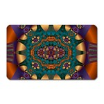 Psychodelic Purple and Gold Fractal Magnet (Rectangular)