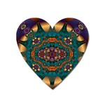 Psychodelic Purple and Gold Fractal Magnet (Heart)